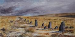 Down Stone Row - Dartmoor Winter